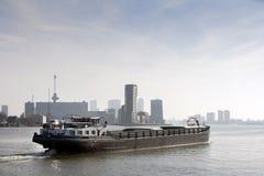 Barka na rzecznym Meuse Fotografia Stock