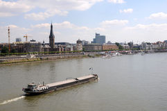 Barka przy Rhin obrazy royalty free