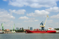 Barka wsiada na morzu bałtyckim Fotografia Stock