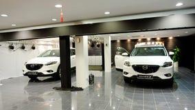Barkass av Mazda CX-9 i Singapore Arkivfoto