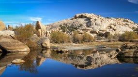 Barker Dam en Joshua Tree Fotografía de archivo