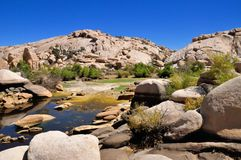 Barker dam at Joshua Tree National Park Stock Photo