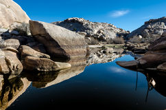 Barker Dam Reflecting Boulders Stock Photo