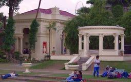 Barkha Pavilion e rotunda al giardino dei sogni Immagini Stock