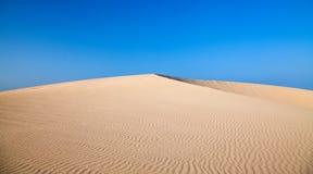 Barkhan dune, evening light Stock Photography