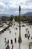 Barkhor Square from the Jokhang Temple in Lhasa Royalty Free Stock Photos