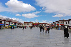 Barkhor Square in Lhasa, Tibet Stock Photo