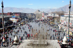 Barkhor square Royalty Free Stock Images