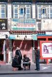 Barkhore Straße, Tibet Stockbilder