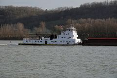 barki holowniku Obraz Stock