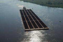 Barki przewożenia ruda żelaza zdjęcie royalty free