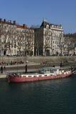 barki Rhone rzeka Zdjęcia Royalty Free