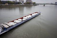 barki rzeka Obraz Royalty Free