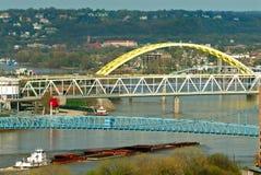barki rzeki Fotografia Royalty Free