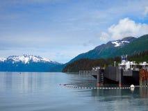 Barki wewnątrz port przy valdez schronieniem Fotografia Stock