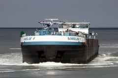 Barki wysyłki rzeka Zdjęcie Stock