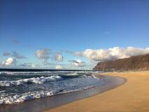 Barking Sands Beach at Polihale State Park on Kauai Island. Royalty Free Stock Photography