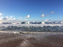 Barking Sands Beach at Polihale State Park on Kauai Island. Royalty Free Stock Image