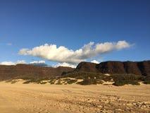 Barking Sands Beach at Polihale State Park on Kauai Island, Hawaii. Royalty Free Stock Images