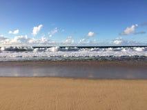 Barking Sands Beach at Polihale State Park on Kauai Island, Hawaii. Stock Images