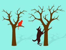 Barking Up The Wrong Tree Idiom stock illustration