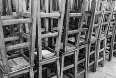 Barkrukinzameling in zwart-wit Stock Foto's