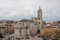 Barletta cathedral. Viewing from the castle terrace Royalty Free Stock Image