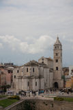 Barletta cathedral. Viewing from the castle terrace Royalty Free Stock Images
