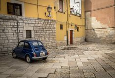 Barletta, Italy Traditional Street Fiat 500 royalty free stock images