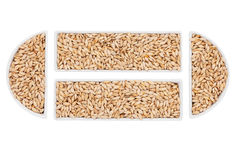 Barley in the ceramic bowl Royalty Free Stock Photos