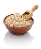Barley in a clay bowl Stock Photo