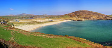 Barley cove beach. Scenery panoramic Royalty Free Stock Images