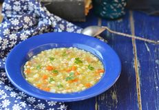 Barley groat soup Stock Photography