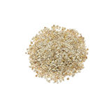 The barley groats. Isolated on white background Stock Photography
