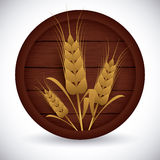 Barley Icons Stock Photo