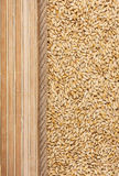 Barley, mat and rope for the menu Royalty Free Stock Photos