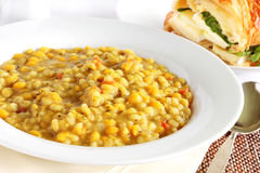 Barley and pea soup Stock Photography