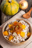 Barley porridge with pumpkin and onion Stock Image