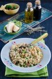 Barley porridge. Stewed with vegetables and mushrooms Stock Image