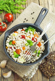 Barley porridge with vegetables Stock Photography