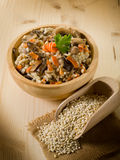 Barley risotto with mushrooms Royalty Free Stock Photography