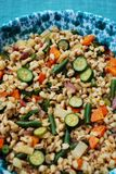 Barley salad with vegetables Royalty Free Stock Photos