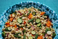 Barley salad with vegetables Stock Image
