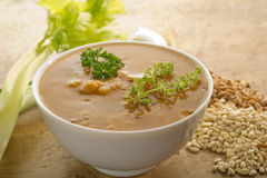 Barley soup Royalty Free Stock Image