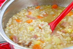Barley soup Stock Photos