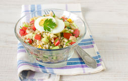 Barley and vegetables summer salad Royalty Free Stock Image