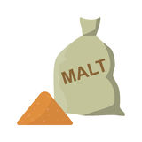 Barley wheat malt bag vector illustration. Royalty Free Stock Photos