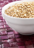 Barley in white bowl Royalty Free Stock Images