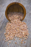 Barley. On the wooden table Stock Photography