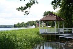 Barlinek, lago, ciudad y alrededores fotos de archivo